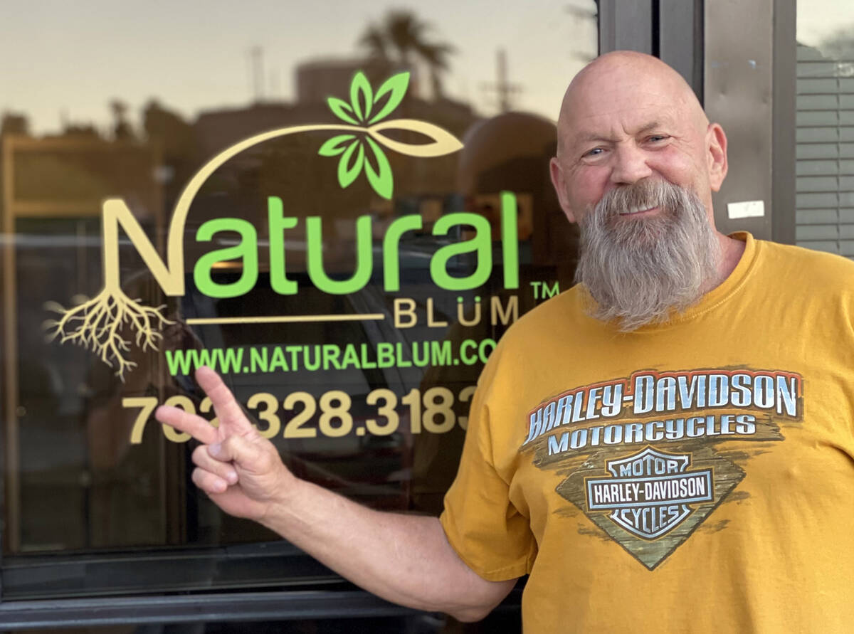 (Natural Blüm) Curt Gebers offers wellness and health alternatives for the community at his s ...