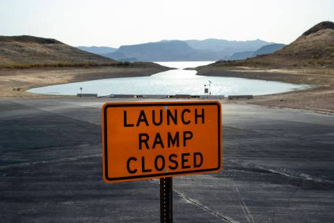 (L.E. Baskow/Special to the Boulder City Review) The boat launch at Boulder Harbor is now close ...