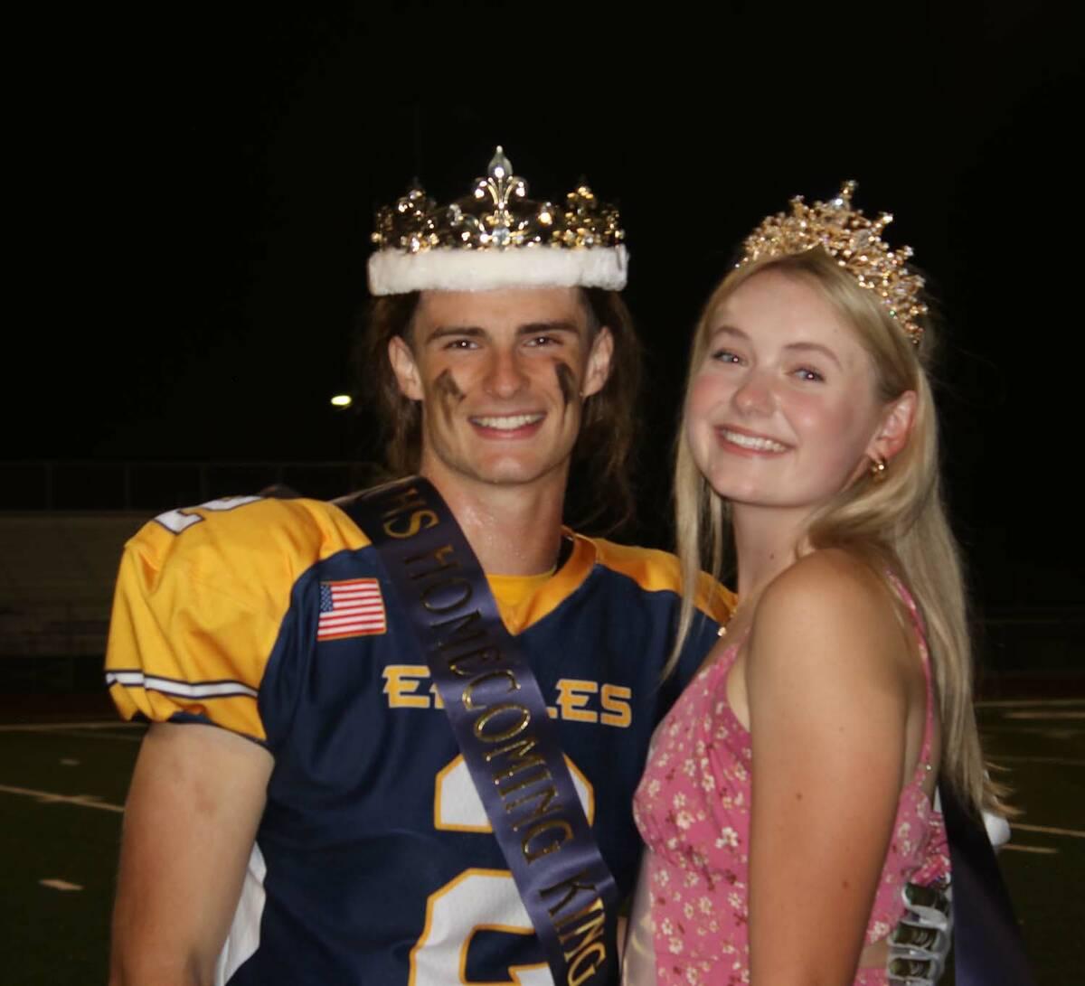 (Amy Wagner) Boulder City High School seniors Zach Martin and Ella McKenzie were named the home ...