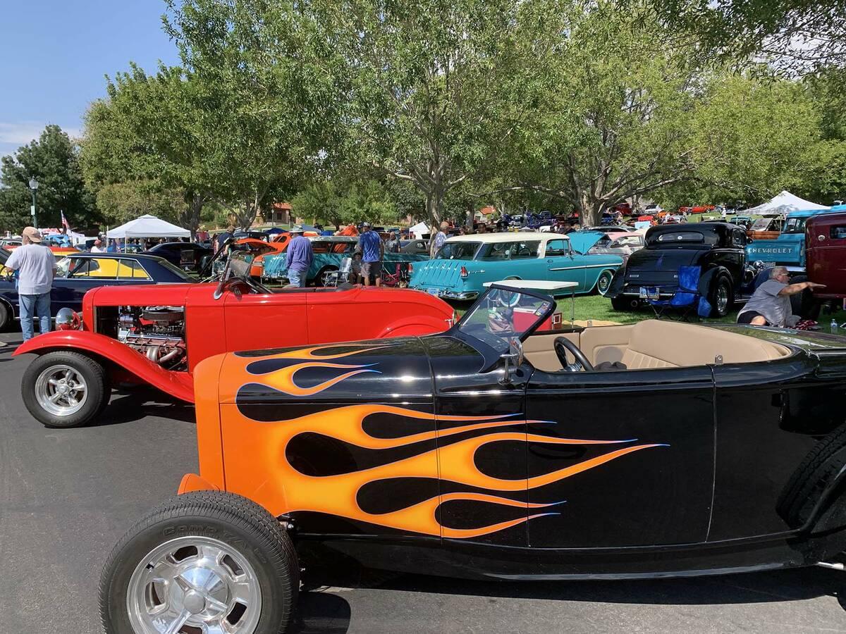 (Hali Bernstein Saylor/Boulder City Review) The Wurst Dam Car Show, part of Boulder City Sunris ...