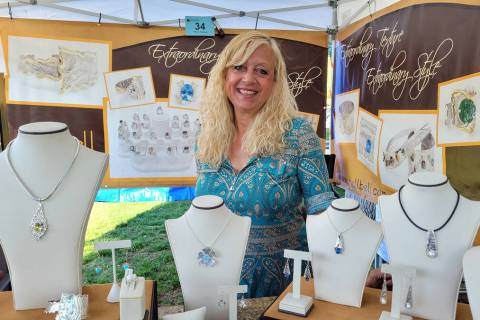 "Celia Shortt Goodyear/Boulder City Review Custom jeweler Shelli ""Shell-Bell"" Kahl sai ..."