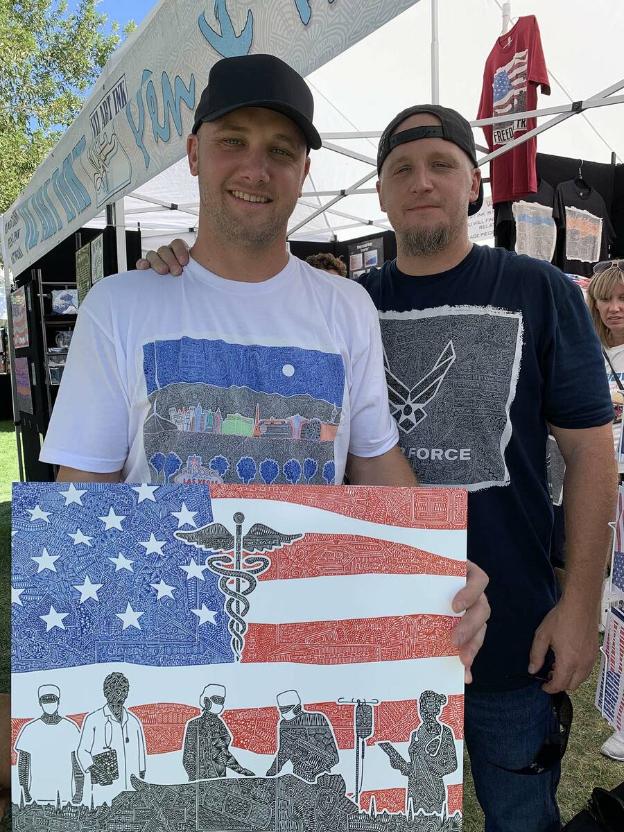 (Hali Bernstein Saylor/Boulder City Review) Gregg Visintainer, left, this year's feature ...