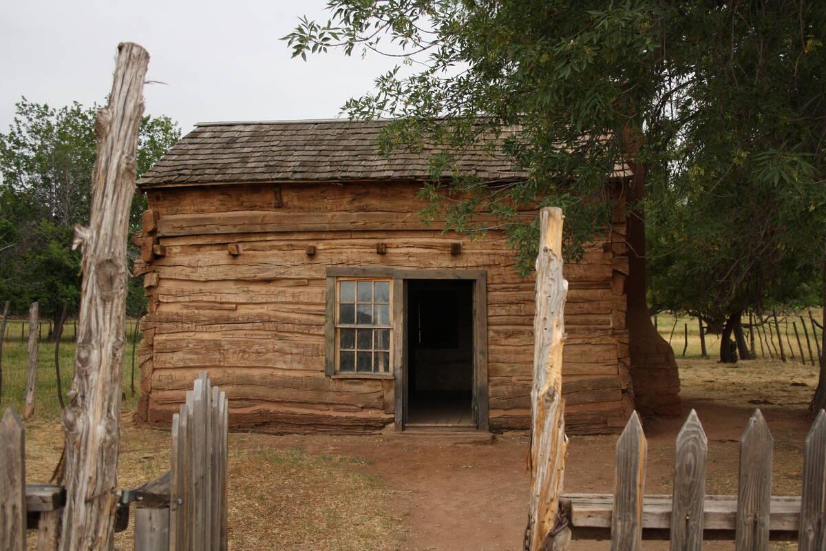(Deborah Wall) Alonzo H. Russell built this home in Grafton, Utah, for his wife, Louisa Marie R ...