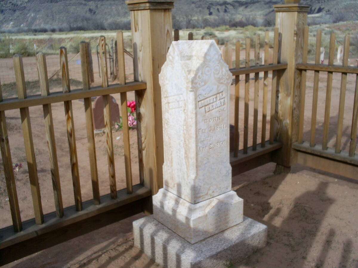 (Deborah Wall) The Grafton Cemetery is about one-third of a mile from the main townsite and was ...
