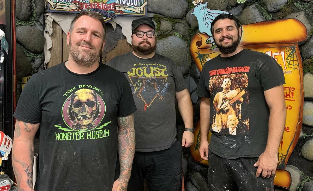 (Hali Bernstein Saylor/Boulder City Review) Tom Devlin, from left, Walid Atshe and Chris Arredo ...