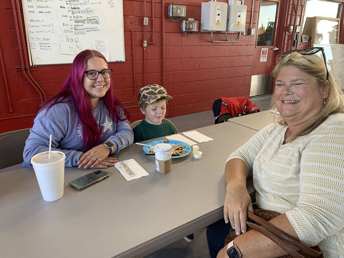 (Hali Bernstein Saylor/Boulder City Review) Members of the Lawrence family, from left, Mikaela, ...