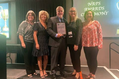 Boulder City Boulder City Parks and Recreation Department was honored with the Silver Legacy P ...